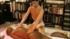 Black male nude massage