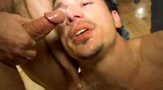 Hardcore gay cum swallowing